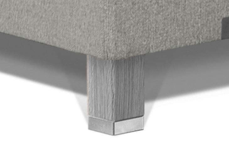 Caresse pootje vierkant eiken met RVS zilver 120mm