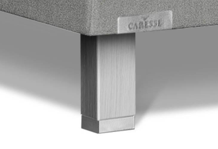Caresse pootje vierkant eiken met RVS zilver 170mm
