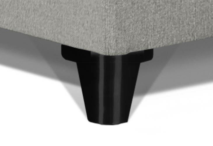 Caresse pootje halfrond RVS zwart 130 mm