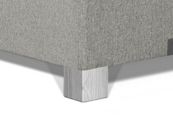 Caresse pootje vierkant eiken zilver 60mm